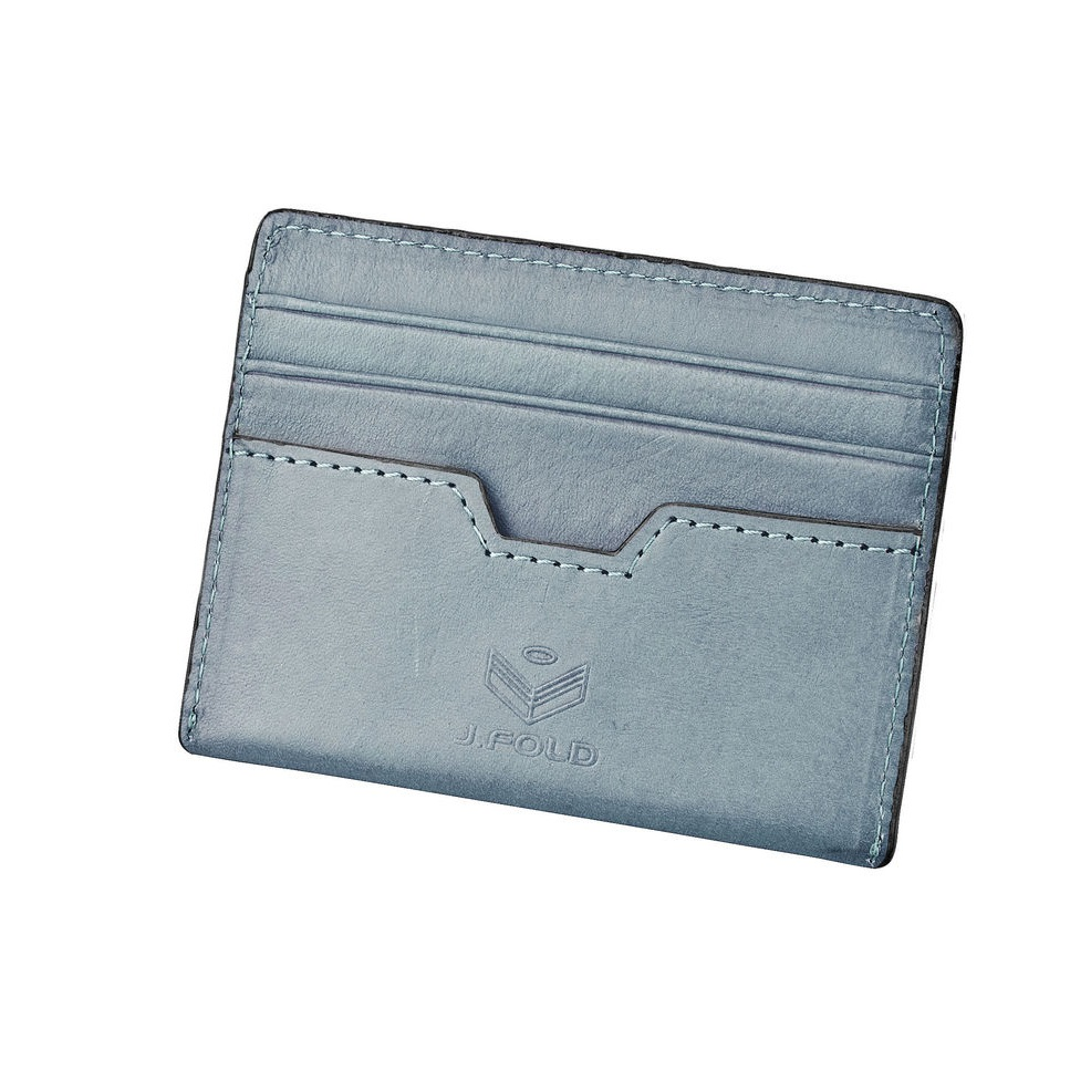 J.FOLD Tetra Flat Carrier Leather Wallet - Slate
