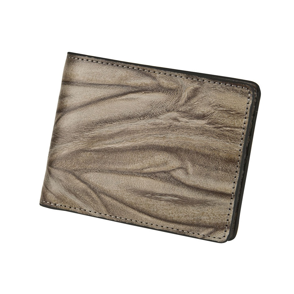 Leather Wallet - Stone