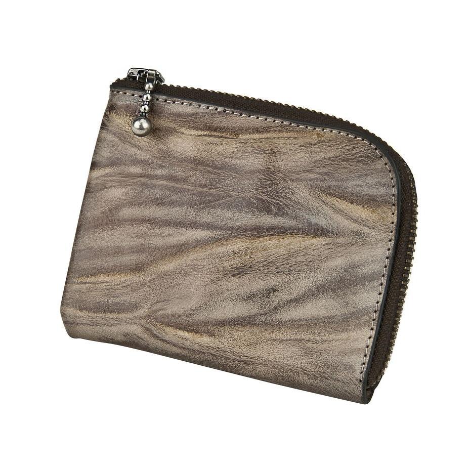J.FOLD ארנק עור Zip Wallet  - Stone