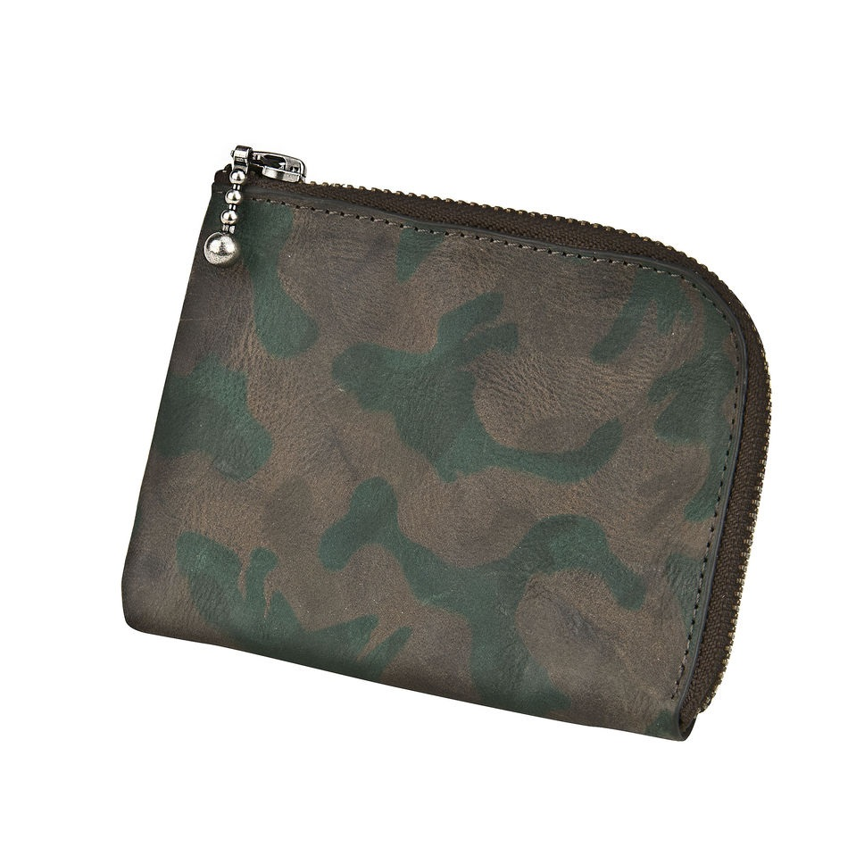 J.FOLD ארנק עור Zip Wallet  - Jungle