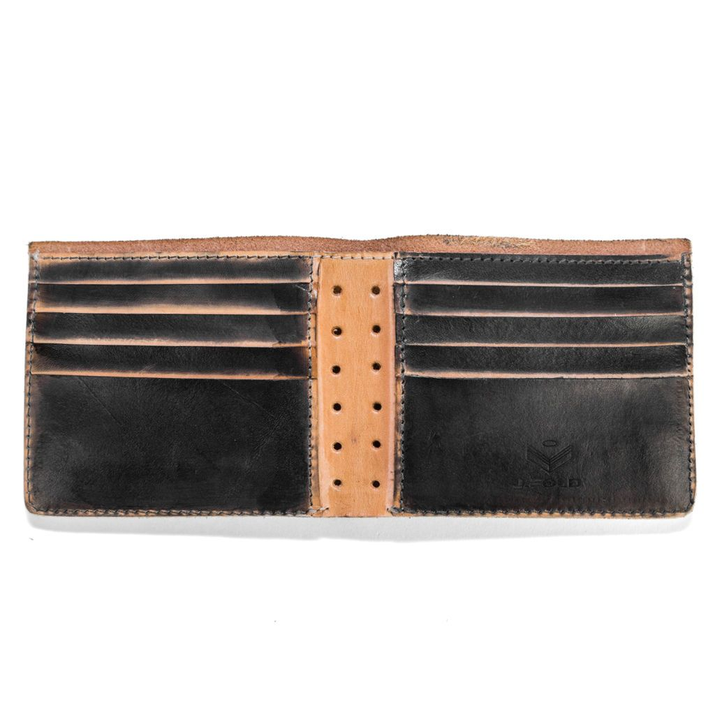 J.FOLD Roadster Screen Strip Leather Wallet - Black