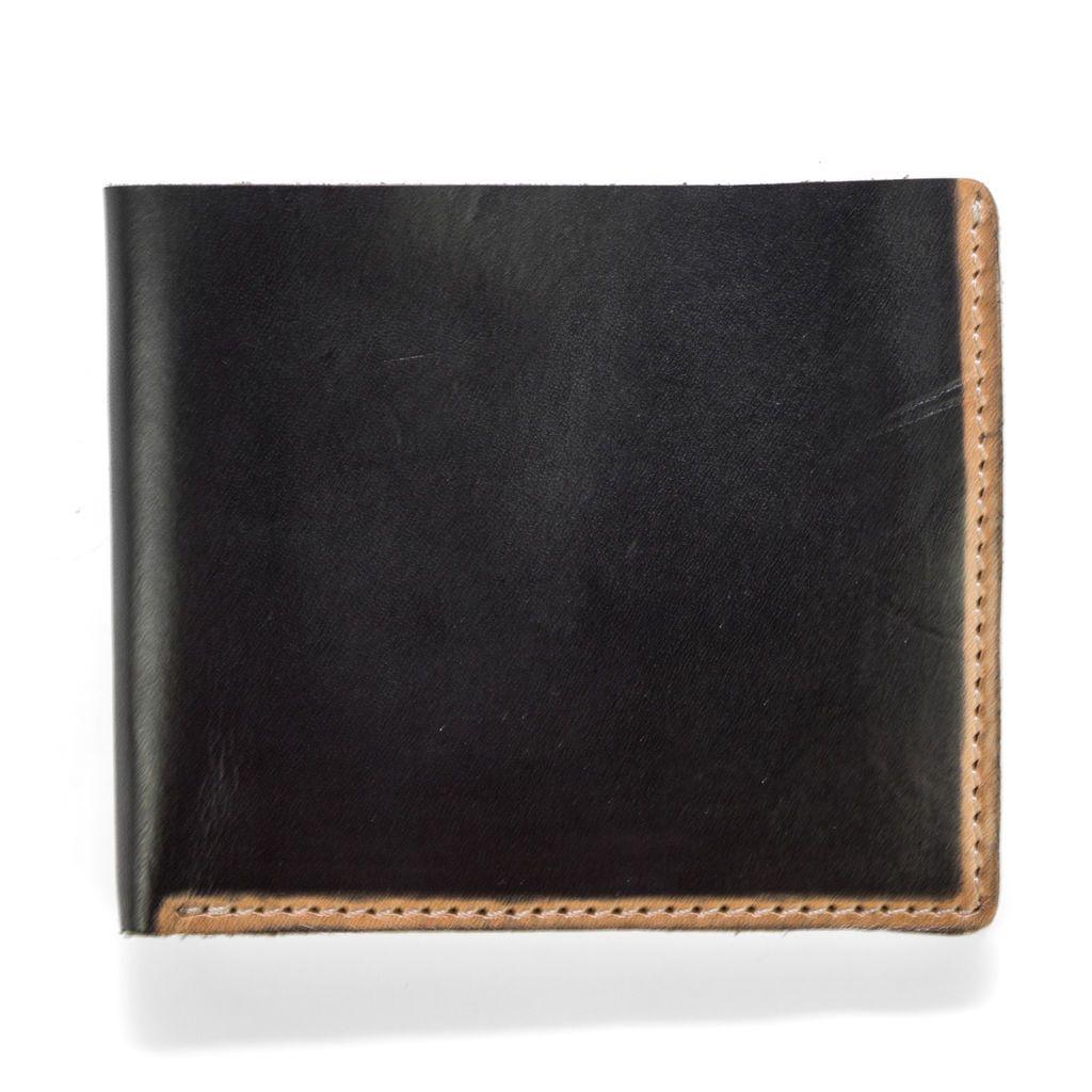 J.FOLD ארנק עור Hand Stained - שחור