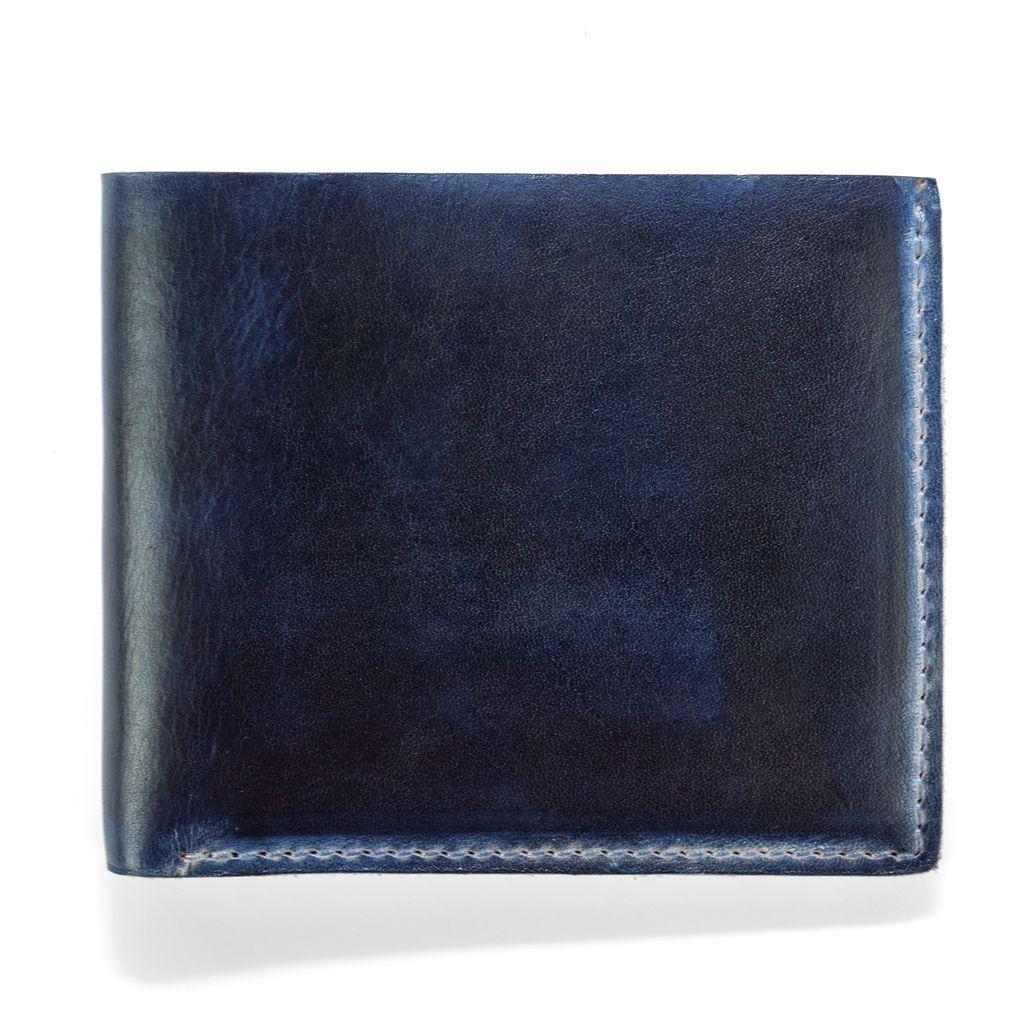 J.FOLD ארנק עור Hand Stained - כחול
