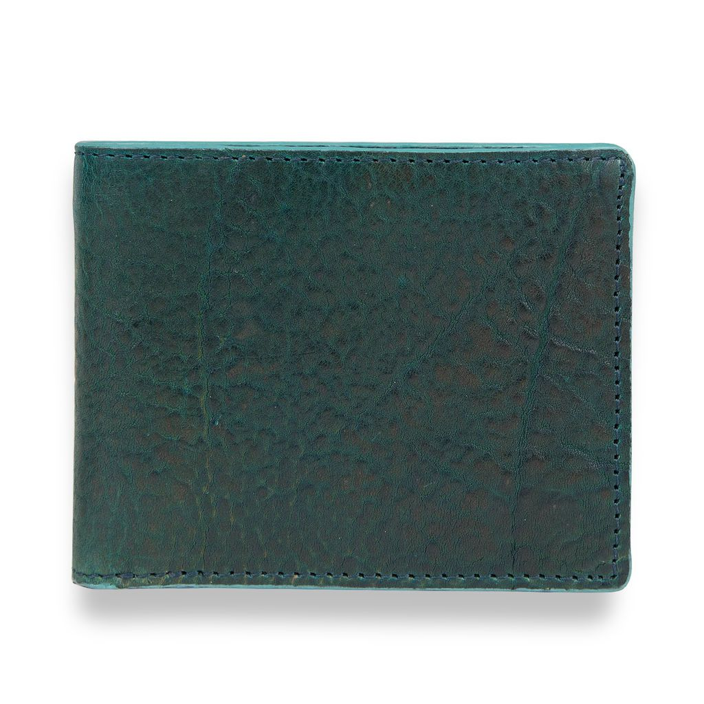 J.FOLD Leather Wallet Havana - Dark Green