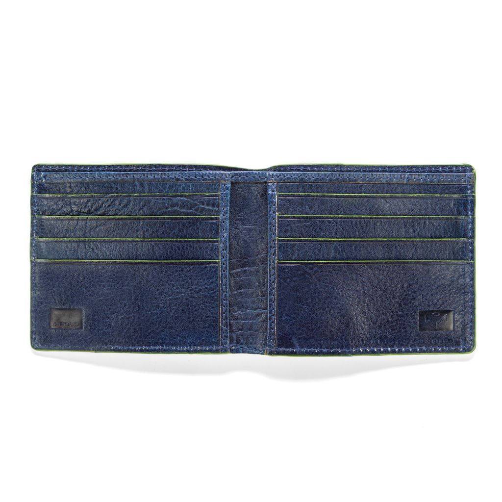 J.FOLD Leather Wallet Havana - Navy