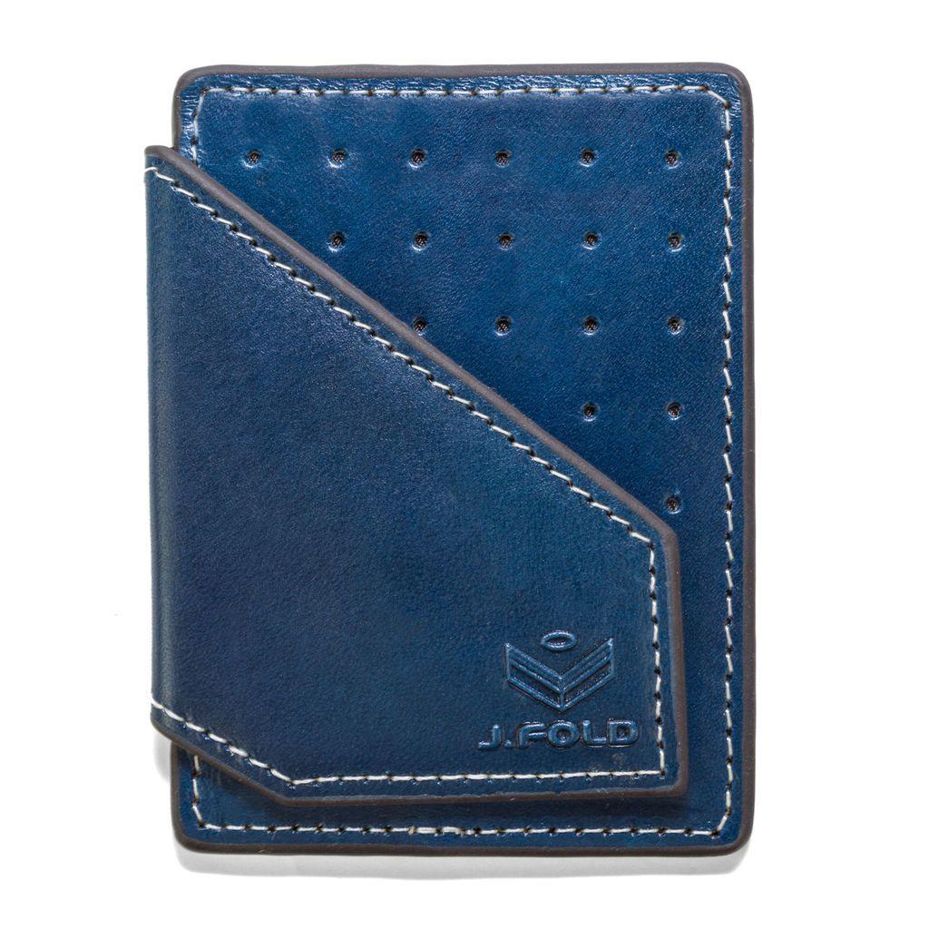 J.FOLD ארנק קליפס Mag Card - כחול