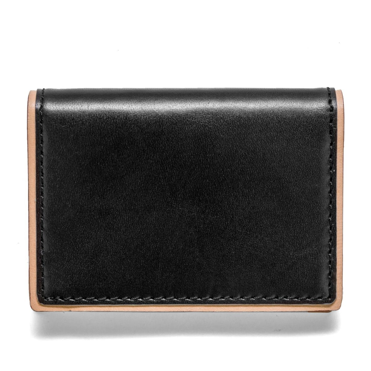 J.FOLD DUOTONE Folding Carrier Leather Wallet - Black