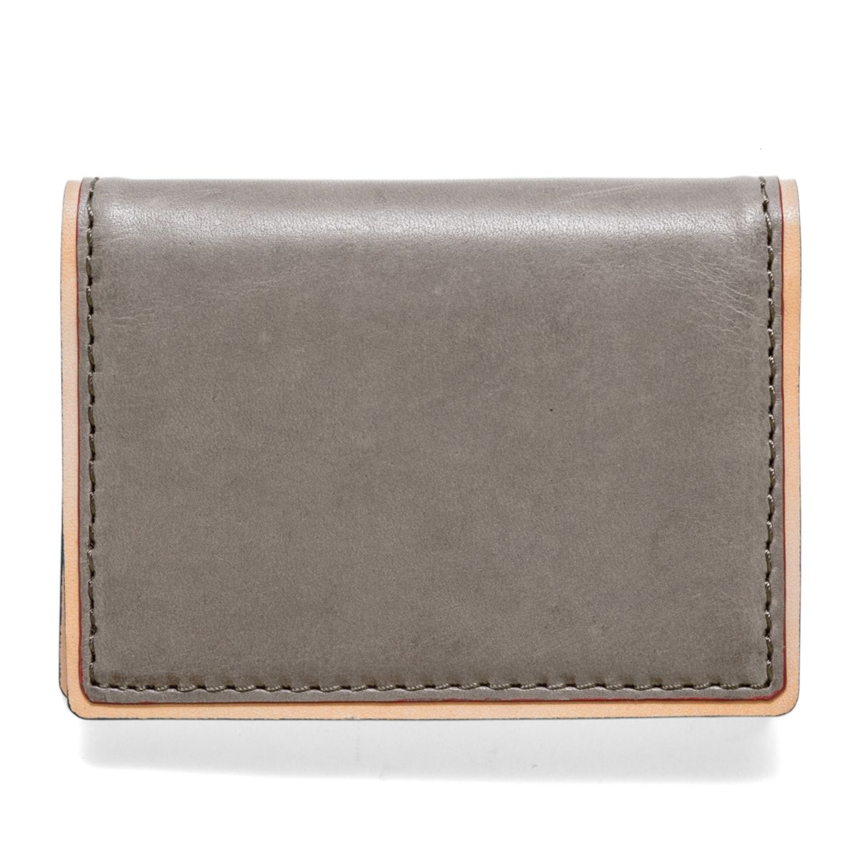 J.FOLD DUOTONE Folding Carrier Leather Wallet - Grey