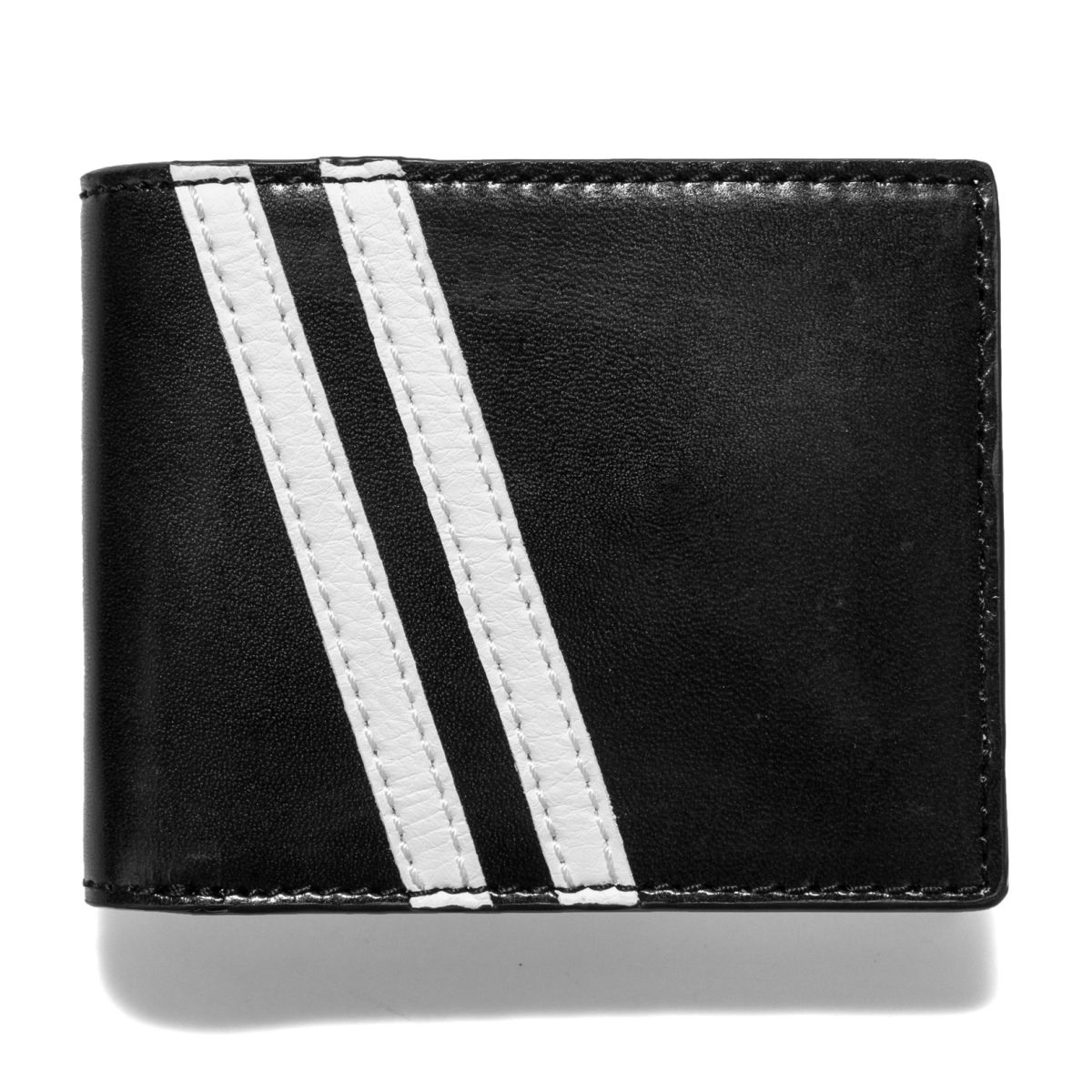 J.FOLD Roadster Leather Wallet - Black/Grey