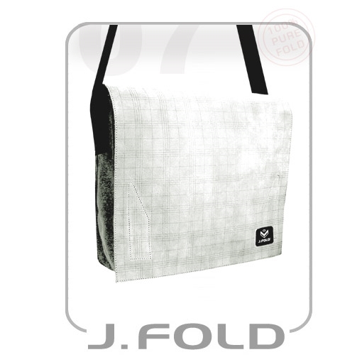 J.FOLD Very Rare Leather Messenger Bag - White Used