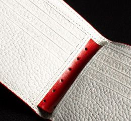 J.FOLD Jetstream Leather Wallet with Coin Pouch - Red