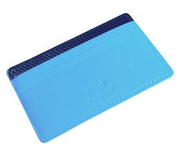 J.FOLD Flat Carrier Leather Wallet - Sky Blue