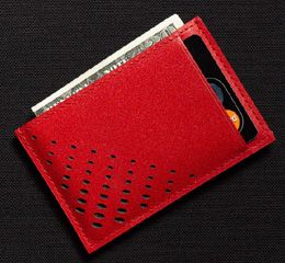 J.FOLD Superflat Carrier Leather Wallet - Red
