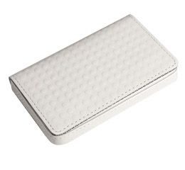 J.FOLD Leather Business Card Carrier - White