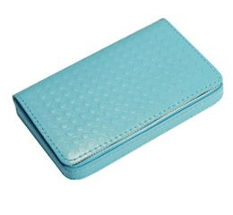 J.FOLD Leather Business Card Carrier - Blue