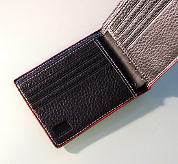 J.FOLD Loungemaster Leather Wallet with Coin Pouch - Black