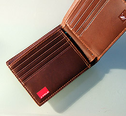 J.FOLD V-Twelve Leather Wallet - Brown