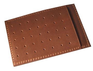 Superflat Carrier Leather Wallet - Brown