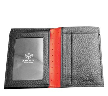 J.FOLD Marshal Leather Wallet - Black