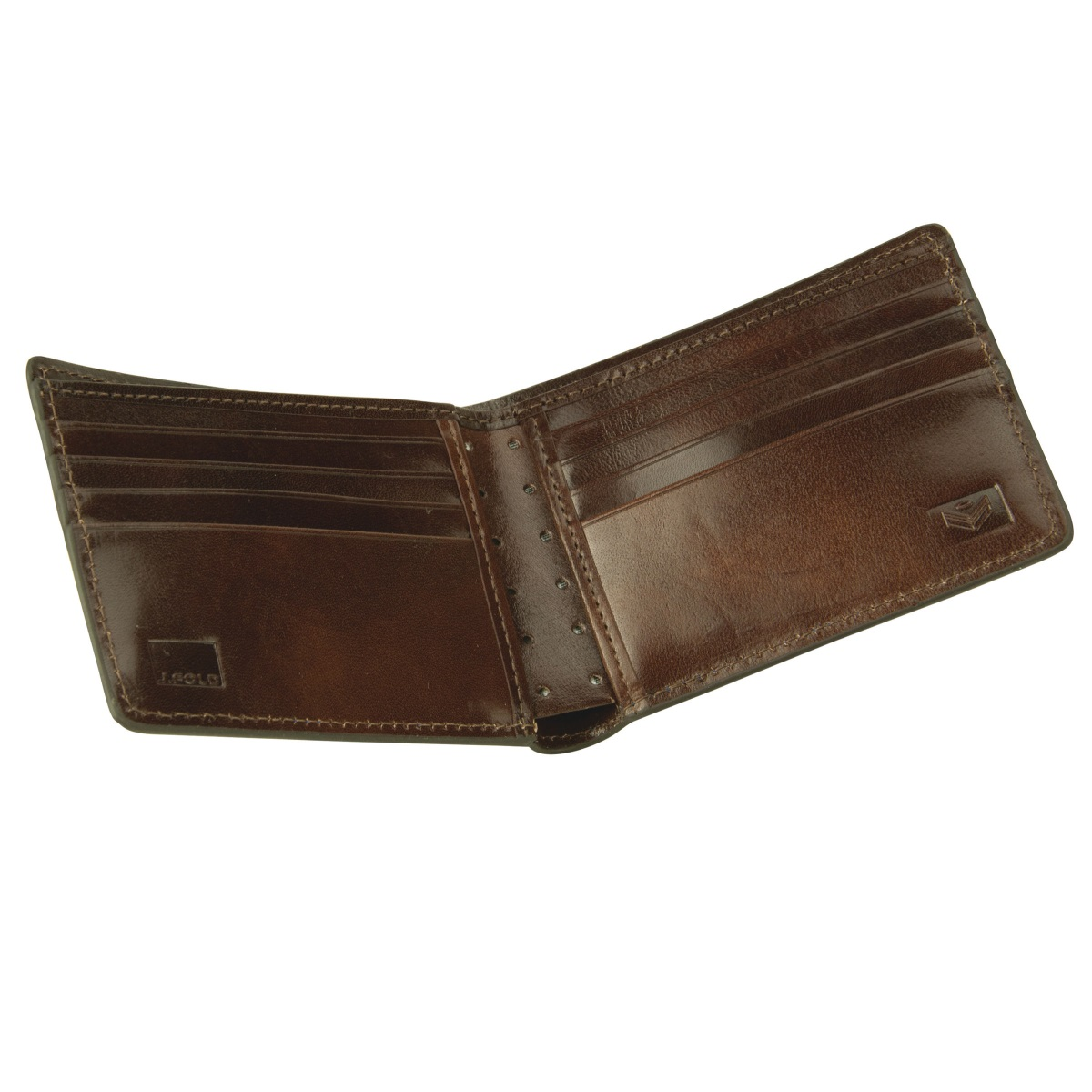 J.FOLD Thunderbird Leather Wallet - Brown/Ivory