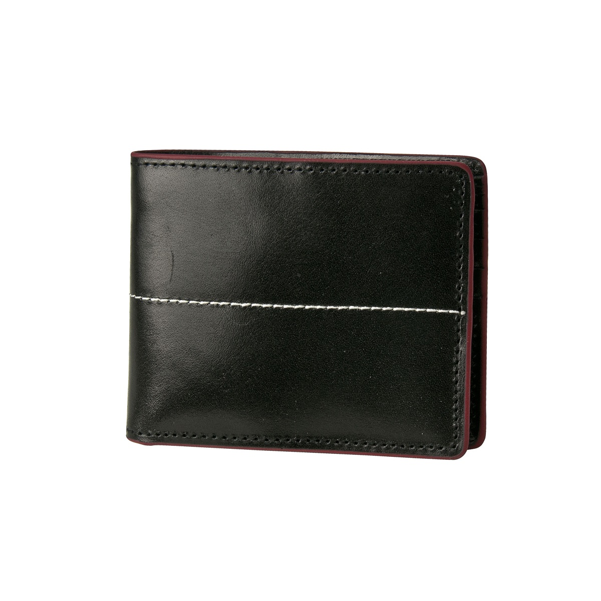 J.FOLD Thunderbird Leather Wallet - Black/Red