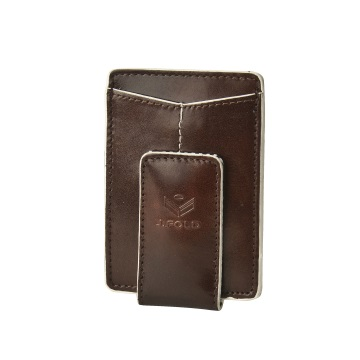 J.FOLD ארנק עור Magnetic Money Clip  - חום