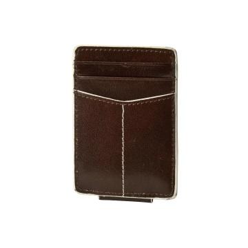 J.FOLD Magnetic Money Clip Wallet - Brown