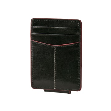 J.FOLD ארנק עור Magnetic Money Clip  - שחור