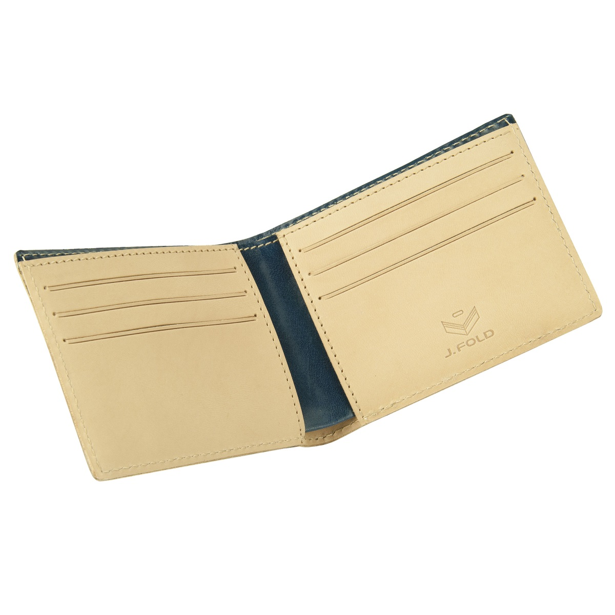 J.FOLD Superglaze Leather Wallet - Cobalt