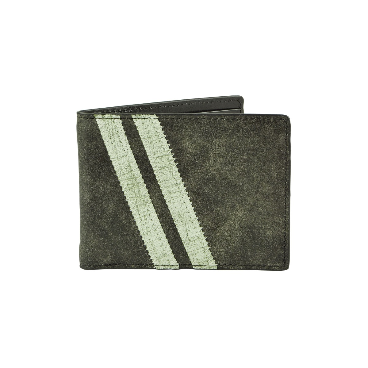 J.FOLD Zig Zag Roadster Leather Wallet - Black