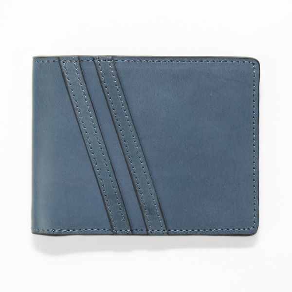 J.FOLD Roadster Leather Wallet - Cobalt