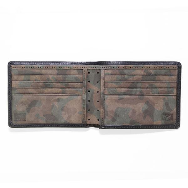 J.FOLD Leather Wallet Havana - Black/Camo