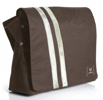 J.FOLD Messenger Waxed Canvas Bag - Brown