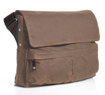 J.FOLD Cargo Waxed Canvas 15 Laptop Messenger - Tan