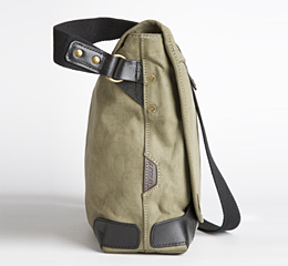 J.FOLD Courier Coated Canvas 15  Laptop Messenger - Stone