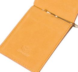J.FOLD ארנק עור Moneyclip - קאמל