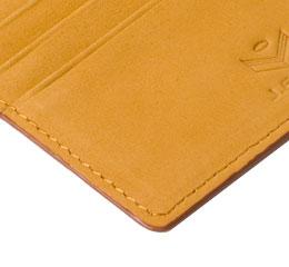 J.FOLD ארנק עור מינימלסטי דגם Flat Carrier - קאמל