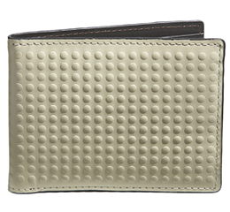 J.FOLD Altrus Leather Wallet with Coin Pouch - Ivory