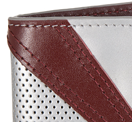 J.FOLD Jetstream Leather Wallet with Coin Pouch - Silver