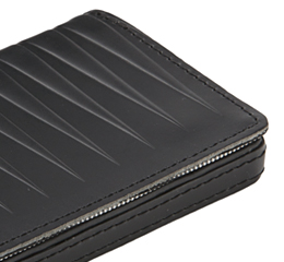 J.FOLD Leather Business Card Carrier - Black