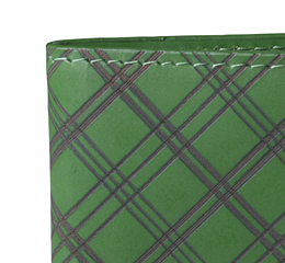 J.FOLD Leather Wallet with Coin Pouch Plaid - Green