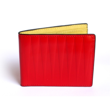 J.FOLD Leather Wallet with Coin Pouch Isosceles  - Red