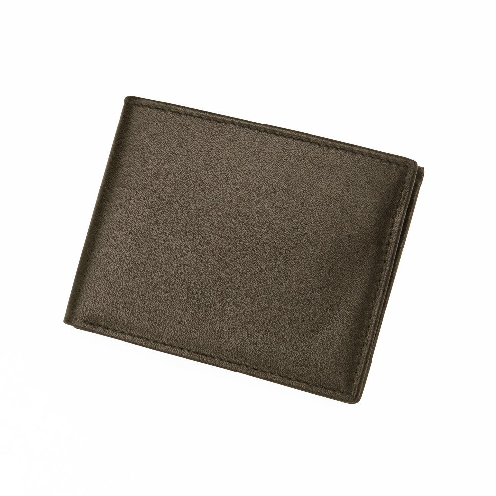 MUNDI Men's Leather Passcase Wallet - Brown