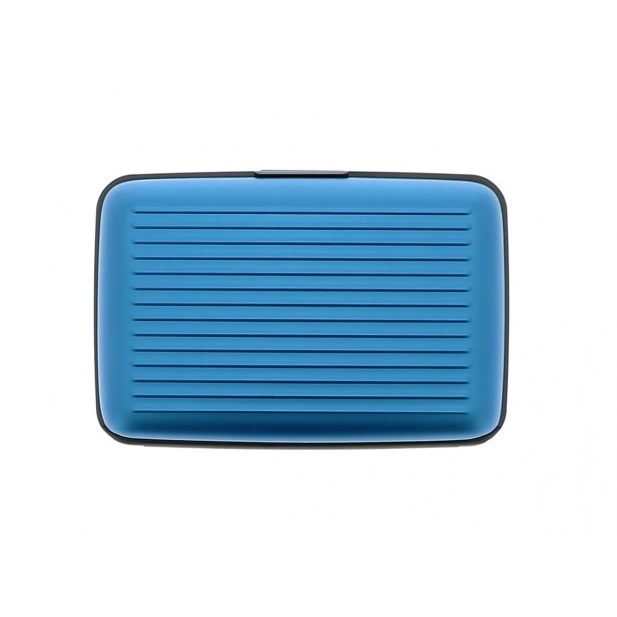OGON Aluminum Wallet with Money Clip - Blue