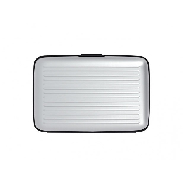 OGON Aluminum Wallet with Money Clip - Silver