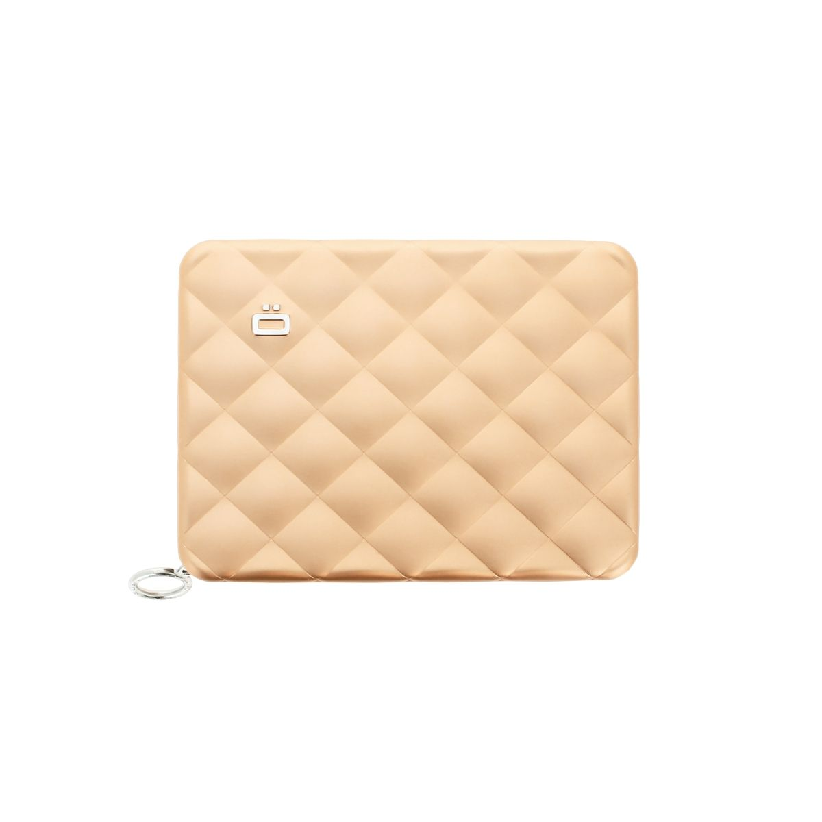 OGON Aluminum Wallet Quilted Passport - Rose Gold