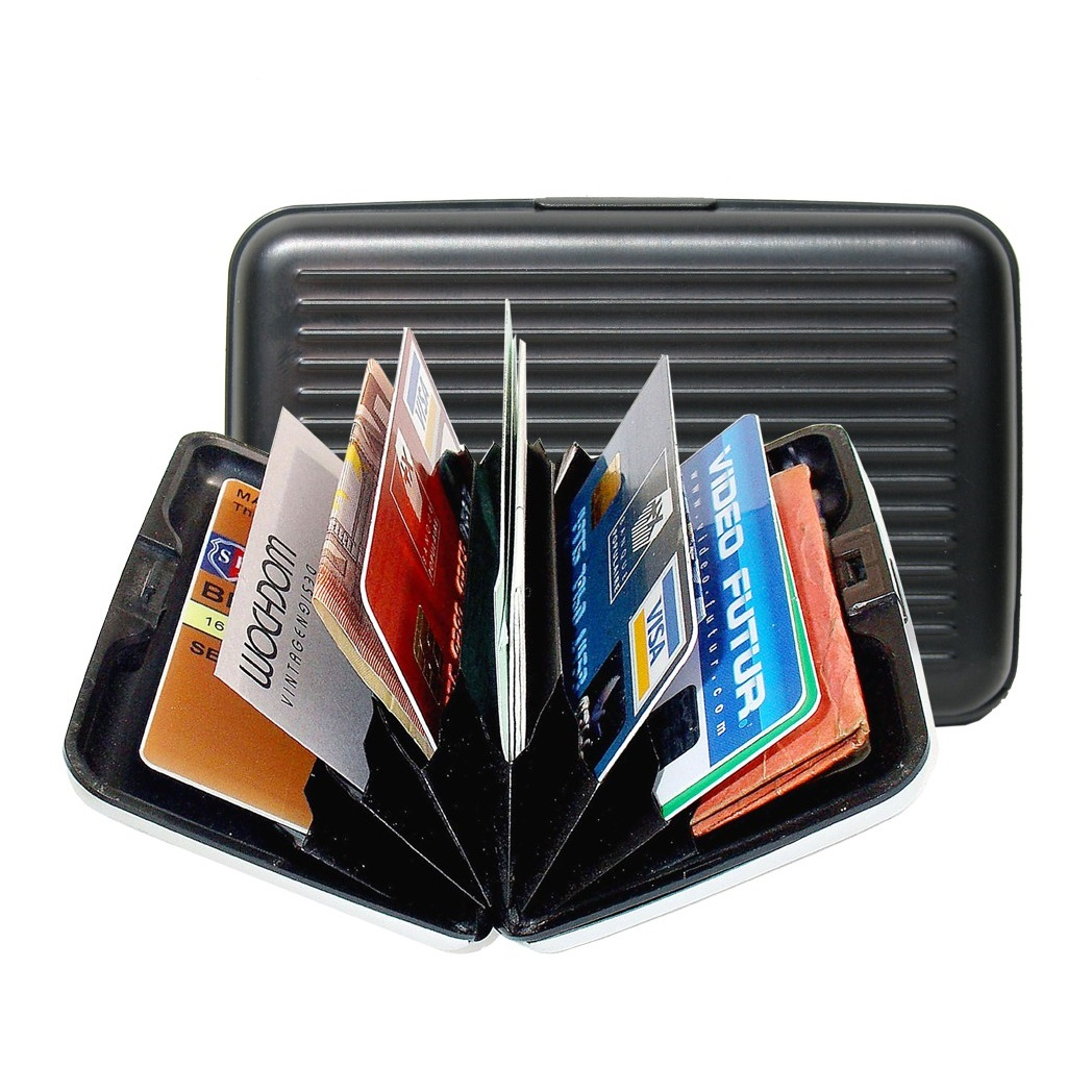Aluminum Wallet - Black