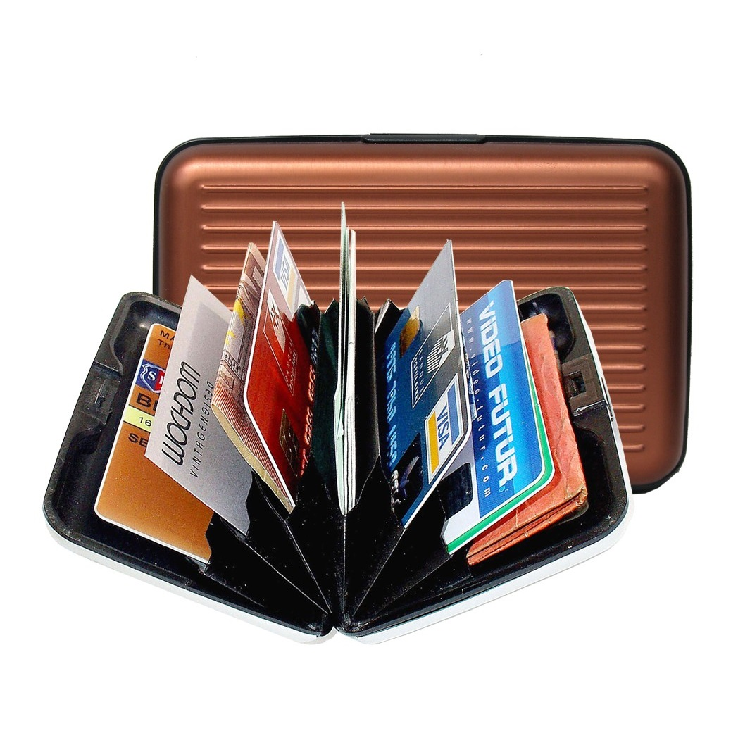 OGON Aluminum Wallet - Chocolate