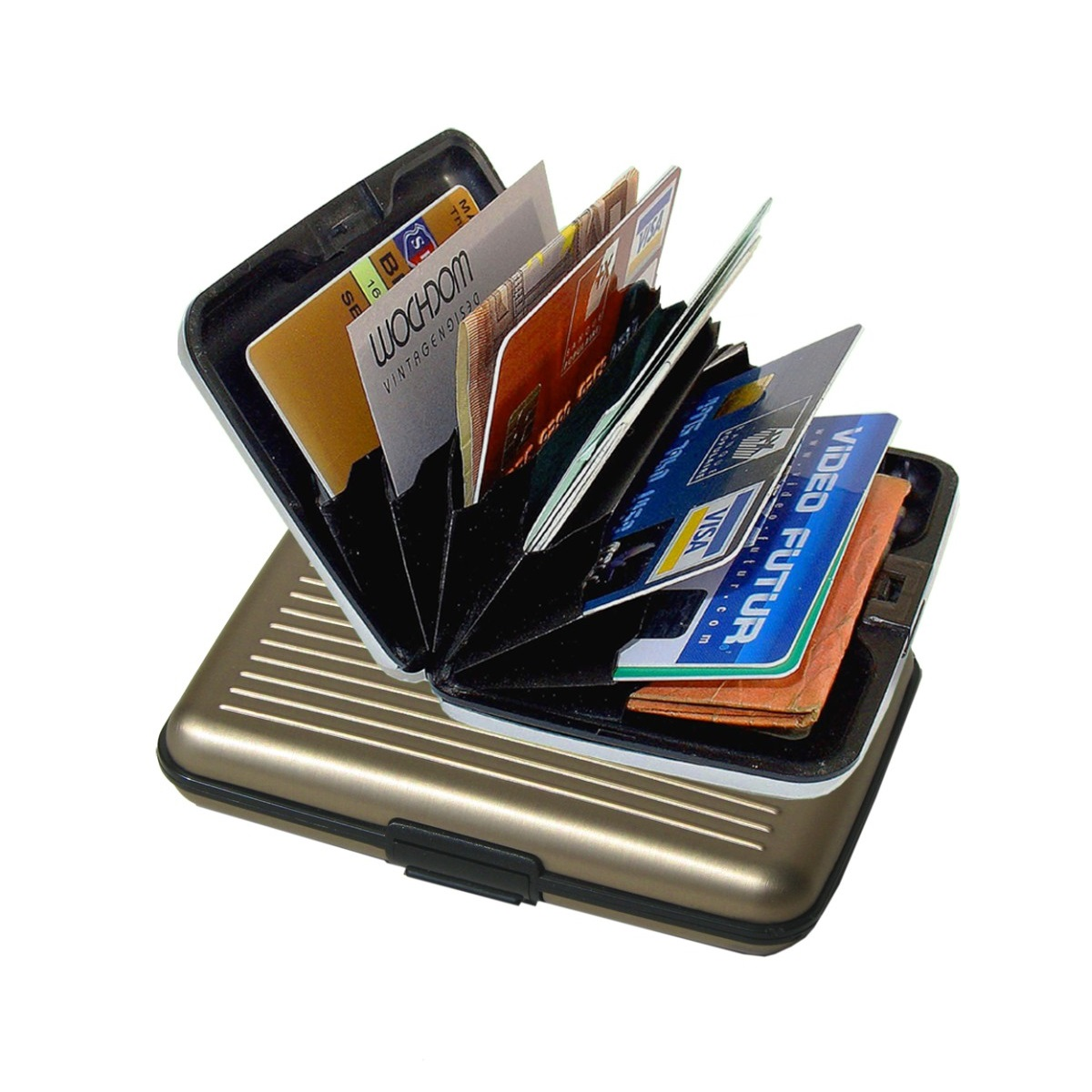 OGON Aluminum Wallet - Dark Grey