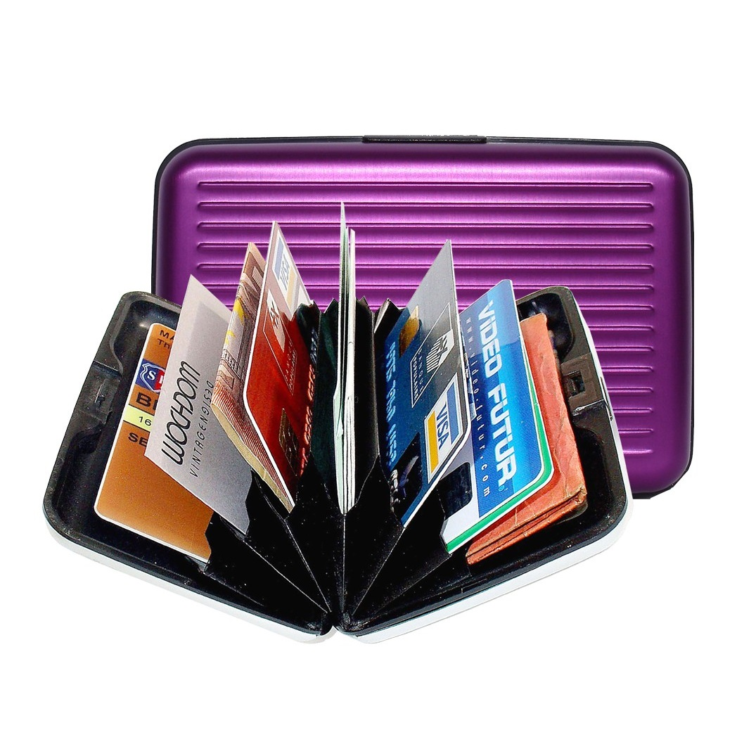 Aluminum Wallet - Purple